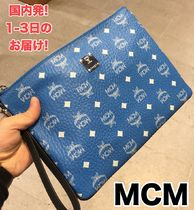 MCM Casual Style Plain Party Style Logo Clutches