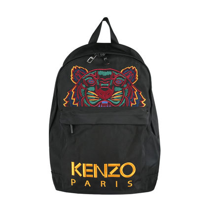 Unisex Street Style Plain Backpacks