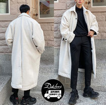 ASCLO Wool Street Style Plain Long Chester Coats