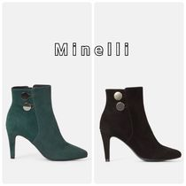 minelli Casual Style Leather Elegant Style High Heel Boots