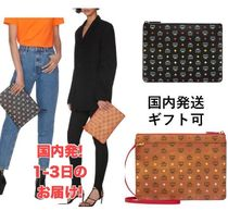 MCM Casual Style Plain Logo Clutches