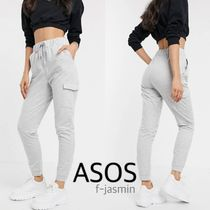ASOS Casual Style Sweat Street Style Plain Cotton Long Sweatpants