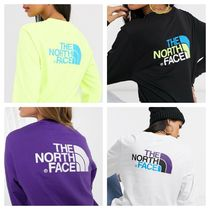 THE NORTH FACE Street Style Long Sleeves Plain Long T-Shirts