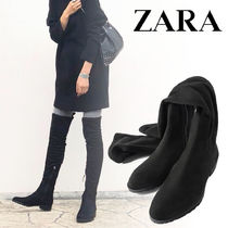 ZARA Plain Over-the-Knee Boots