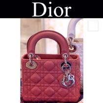 Christian Dior LADY DIOR Other Plaid Patterns Casual Style Lambskin Street Style 2WAY