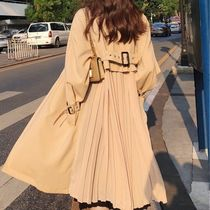 Stand Collar Coats Casual Style Blended Fabrics Plain Long