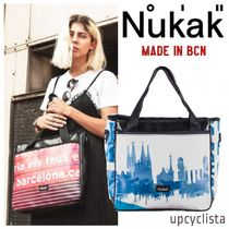 Nukak Casual Style Unisex A4 2WAY Handmade Totes