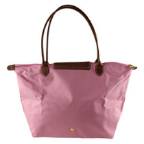 Longchamp Nylon Plain Leather Totes