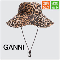 Ganni Unisex Street Style Bucket Hats Hats & Hair Accessories