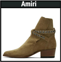 AMIRI Studded Plain Leather Boots
