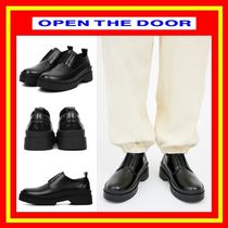 OPEN THE DOOR Casual Style Street Style Plain Loafer & Moccasin Shoes