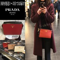 PRADA Casual Style Calfskin Saffiano 2WAY Leather Party Style