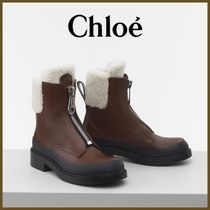 Chloe Mountain Boots Round Toe Rubber Sole Casual Style
