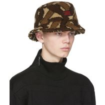 Burberry Unisex Street Style Bucket Hats Wide-brimmed Hats