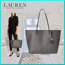 Ralph Lauren Casual Style Faux Fur A4 Office Style Elegant Style Totes