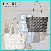Ralph Lauren Casual Style Faux Fur Office Style Elegant Style Totes