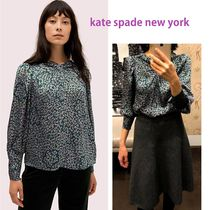 kate spade new york Leopard Patterns Long Sleeves Party Style Shirts & Blouses
