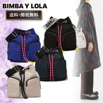 bimba & lola Casual Style Blended Fabrics 2WAY Plain Shoulder Bags