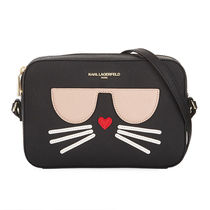 Karl Lagerfeld Casual Style Faux Fur Party Style Elegant Style Crossbody