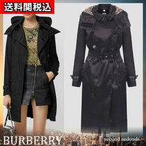 Burberry Nylon Plain Medium Trench Coats