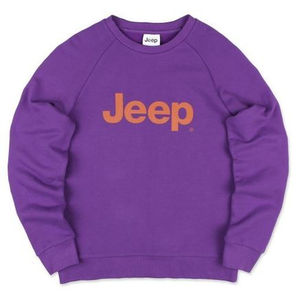 JEEP Sweatshirts Crew Neck Unisex Street Style Long Sleeves Plain Cotton Logo 5