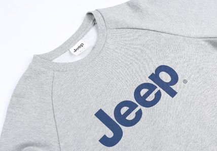 JEEP Sweatshirts Crew Neck Unisex Street Style Long Sleeves Plain Cotton Logo 8