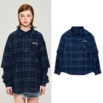 Charm's Other Check Patterns Casual Style Unisex Street Style