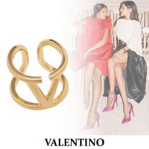 VALENTINO Casual Style Party Style 18K Gold Elegant Style Rings