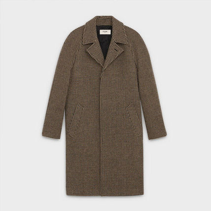 CELINE Chester Zigzag Wool Long Chester Coats 2