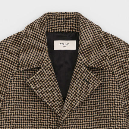 CELINE Chester Zigzag Wool Long Chester Coats 4