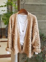 Casual Style Rib Blended Fabrics Studded Street Style