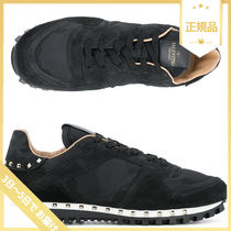VALENTINO Camouflage Studded Leather Sneakers