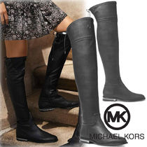 Michael Kors Plain Toe Rubber Sole Casual Style Plain Over-the-Knee Boots