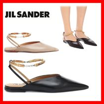 Jil Sander Plain Leather Elegant Style Sandals Sandal