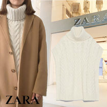 ZARA Casual Style Plain Oversized Vests