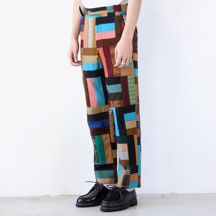 Printed Pants Wool Handmade Patterned Pants