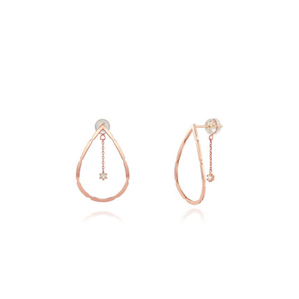 Chain Party Style 14K Gold Elegant Style Earrings