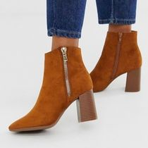 Pimkie Casual Style Suede Block Heels Boots Boots