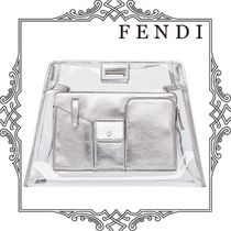 FENDI Collaboration Leather Crystal Clear Bags Bags