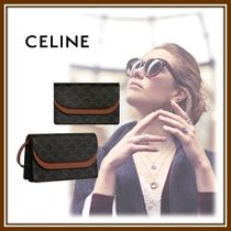 CELINE Triomphe Lambskin Other Animal Patterns Accessories