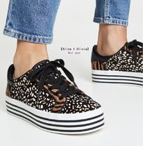 Alice+Olivia Casual Style Blended Fabrics Other Animal Patterns Leather