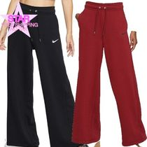 Nike Casual Style Plain Cotton Long Logo Culottes