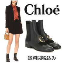 Chloe Chloe C Plain Leather Elegant Style Ankle & Booties Boots