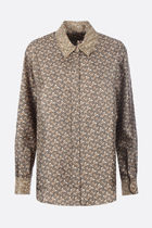 Burberry Monogram Silk Long Sleeves Shirts & Blouses