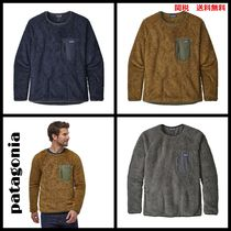 Patagonia Crew Neck Pullovers Long Sleeves Plain Tops