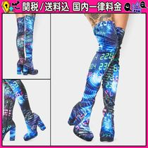 DOLLS KILL Platform Round Toe Casual Style Over-the-Knee Boots