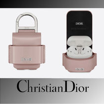 Christian Dior DIOR OBLIQUE Street Style Plain Leather Smart Phone Cases