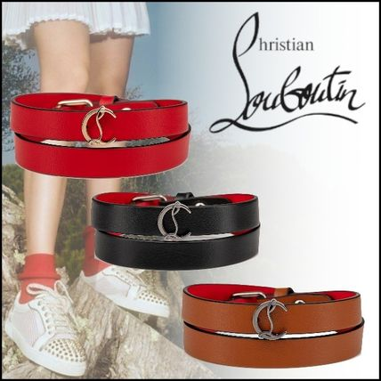 Casual Style Blended Fabrics Leather Bracelets