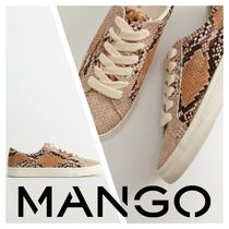 MANGO Platform Round Toe Rubber Sole Platform & Wedge Sneakers