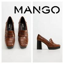MANGO Square Toe Platform Other Animal Patterns Block Heels